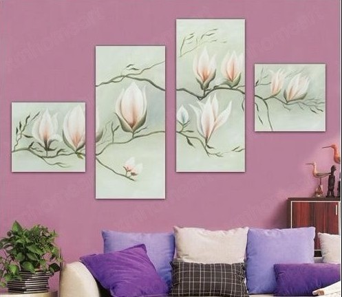 /1009-1178/floral-hand-painted-oil-painting-with-stretched-frame-set-of-4.jpg
