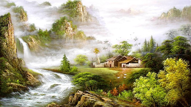 /105-105/hand-painted-landscape-oil-painting-with-stretched-frame-24-x-40.jpg