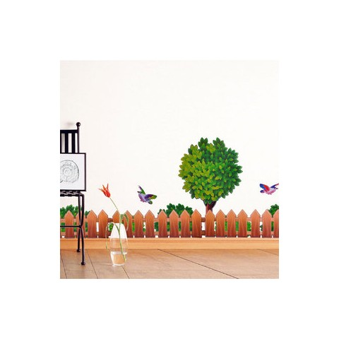 Tree and fence wall stickers