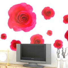 Red rose wall stickers