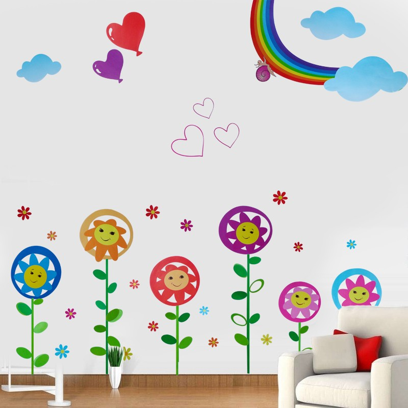 /1118-1577/sunflowers-with-smiling-face-wall-stickers.jpg