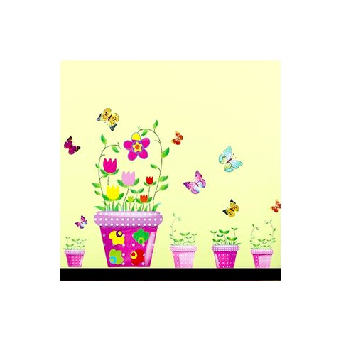 Bonsia and butterfly wall stickers