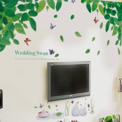 Wedding swan wall stickers