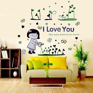 /1127-1607/watering-the-flowers-girl-wall-stickers.jpg