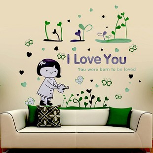 /1127-1609/watering-the-flowers-girl-wall-stickers.jpg