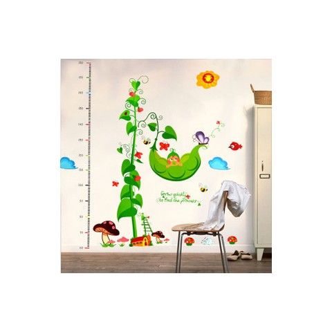 Pea height charts wall stickers