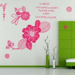 Love flowers wall stickers