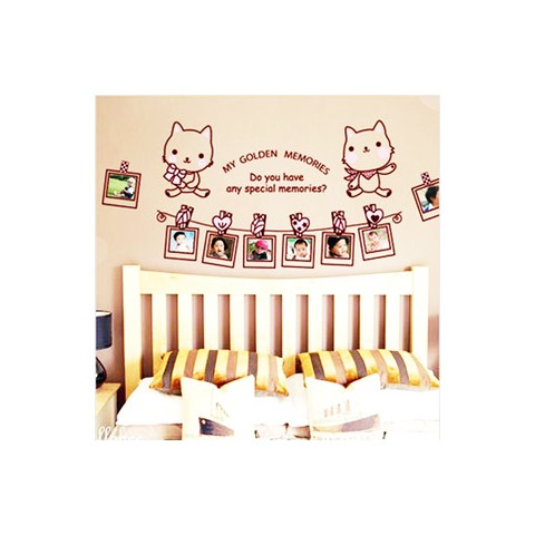 Kitty photos wall stickers