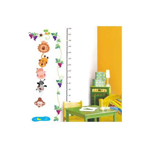 Height charts wall stickers
