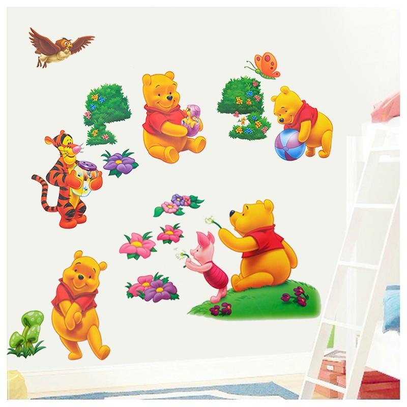 winnie the pooh wall stickers wall art ideas winnie the pooh wall stickers owl animal nursery baby kids