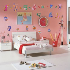 Catoon numbers wall stickers