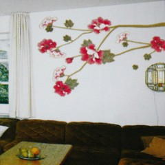 Flowers branch wall stickers