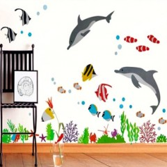 Perfect Dolphin And Tropical Fish Wall Stickers Part 21