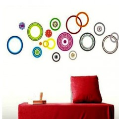 Colorful circle wall stickers