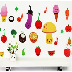 Cartoon vegetables wall stickers