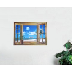Windows and beach wall stickers