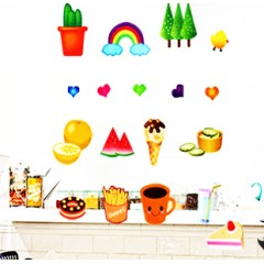 Pastry wall stickers