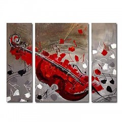 Hand-painted Oil Painting Abstract Oversized Wide - Set of 3