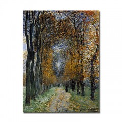 "Hand-painted Oil Painting The Avenue by Claude Monet with Stretched Frame - 24"" x 36"""