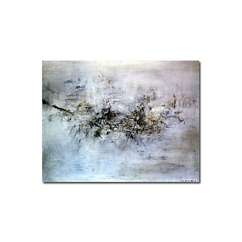 "Hand-painted Abstract Oil Painting with Stretched Frame - 24"" x 36"""