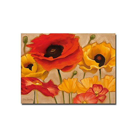 "Hand-painted Floral Oil Painting with Stretched Frame - 24"" x 36"""