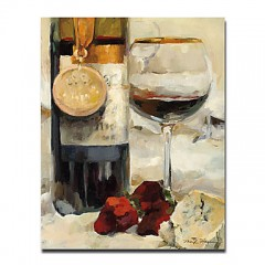 "Hand-painted Still Life Oil Painting with Stretched Frame - 20"" x 24"""