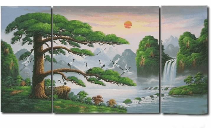 /129-129/hand-painted-landscape-oil-painting-with-stretched-frame-set-of-3.jpg