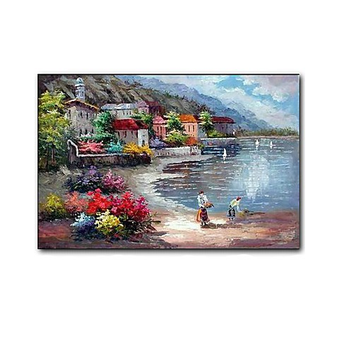 "Hand-painted Landscape Oil Painting with Stretched Frame- 20"" x 24"""
