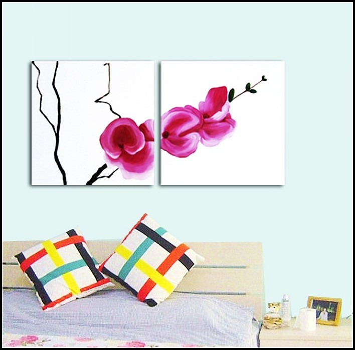/133-140/flower-hand-painted-oil-painting-with-stretched-frame-set-of-2.jpg
