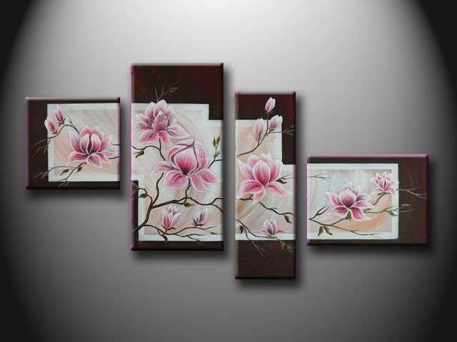 /135-142/hand-painted-flower-oil-painting-with-stretched-frame-set-of-4.jpg