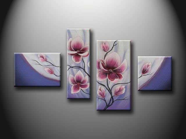 /136-143/hand-painted-flower-oil-painting-with-stretched-frame-set-of-4.jpg