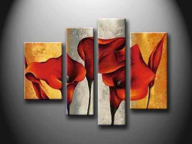 /138-146/flower-hand-painted-oil-painting-with-stretched-frame-set-of-4.jpg
