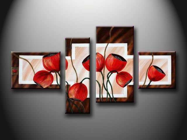 /145-153/hand-painted-flower-oil-painting-with-stretched-frame-set-of-4.jpg