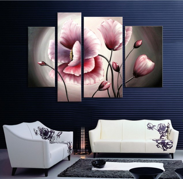 /147-155/hand-painted-flower-oil-painting-with-stretched-frame-set-of-4.jpg