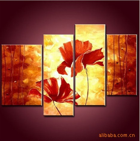 /150-159/hand-painted-flower-oil-painting-with-stretched-frame-set-of-4.jpg