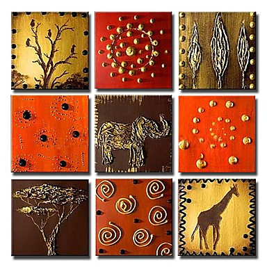 /1507-2064/hand-painted-animal-oil-painting-with-stretched-frame-set-of-9.jpg
