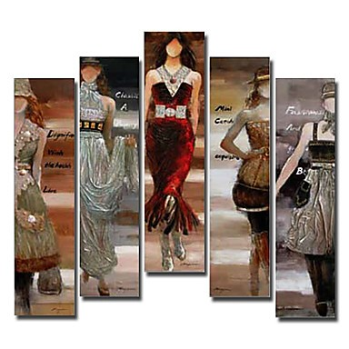 /1533-2090/hand-painted-people-oil-painting-with-stretched-frame-set-of-5.jpg