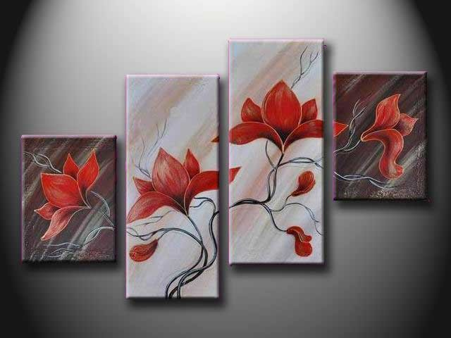 /154-163/hand-painted-flower-oil-painting-with-stretched-frame-set-of-4.jpg