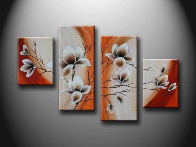 /155-164/flower-hand-painted-oil-painting-with-stretched-frame-set-of-4.jpg