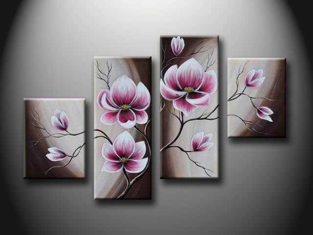 /156-166/hand-painted-flower-oil-painting-with-stretched-frame-set-of-4.jpg