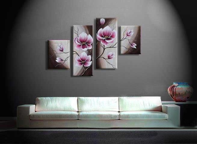 /156-167/hand-painted-flower-oil-painting-with-stretched-frame-set-of-4.jpg