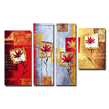 /1570-2127/hand-painted-floral-oil-painting-with-stretched-frame-set-of-4.jpg