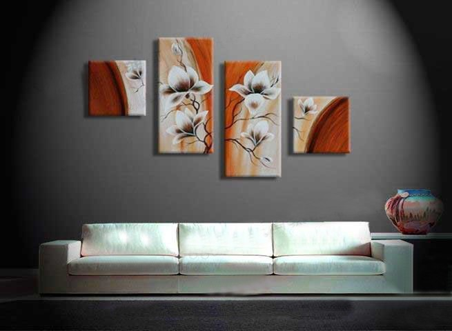/159-170/hand-painted-flower-oil-painting-with-stretched-frame-set-of-4.jpg