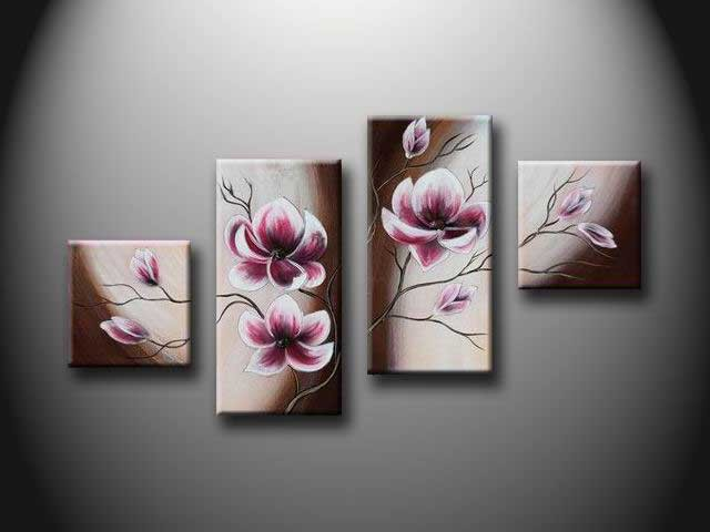 /160-171/hand-painted-flower-oil-painting-with-stretched-frame-set-of-4.jpg