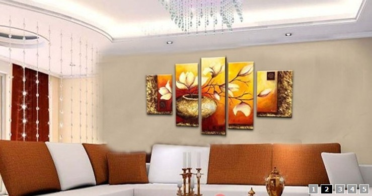 /163-174/hand-painted-flower-oil-painting-with-stretched-frame-set-of-5.jpg