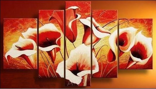 /166-178/hand-painted-flower-oil-painting-with-stretched-frame-set-of-5.jpg