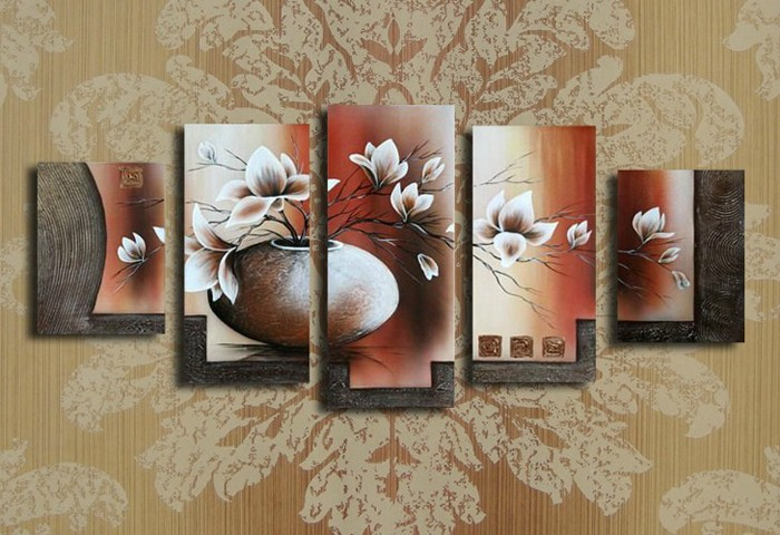 /172-188/hand-painted-flower-oil-painting-with-stretched-frame-set-of-5.jpg