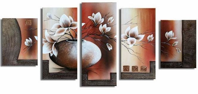 /172-191/hand-painted-flower-oil-painting-with-stretched-frame-set-of-5.jpg