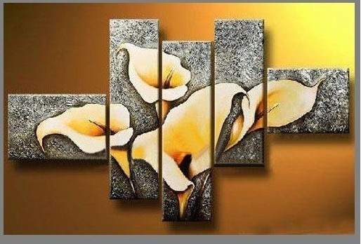 /173-197/hand-painted-flower-oil-painting-with-stretched-frame-set-of-5.jpg