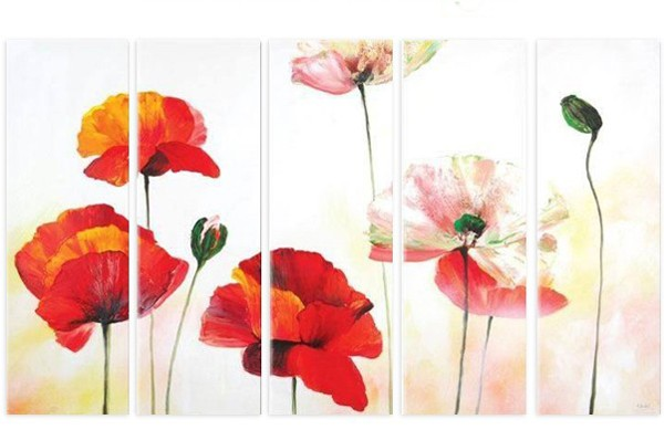 /176-200/hand-painted-flower-oil-painting-with-stretched-frame-set-of-5.jpg